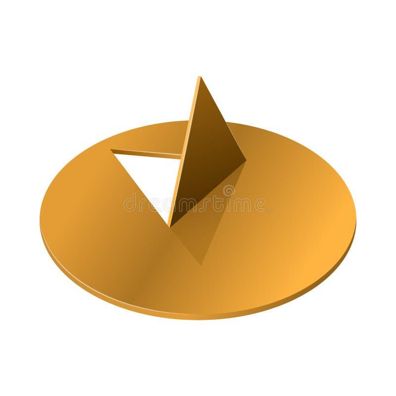 Icône de punaise en métal, style réaliste illustration de vecteur