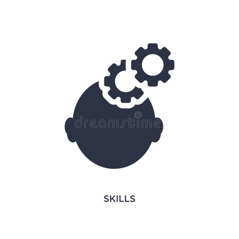 icône de qualifications sur le fond blanc Illustration simple d'élément de concept de ressources humaines illustration stock