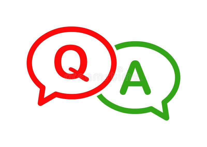 Icône de questions et réponses de bulle illustration libre de droits