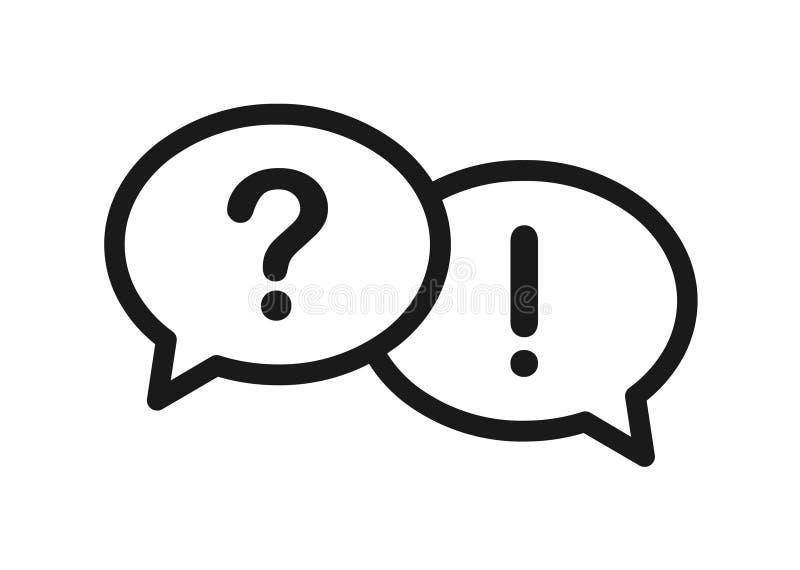 Icône de questions et réponses de bulle illustration de vecteur