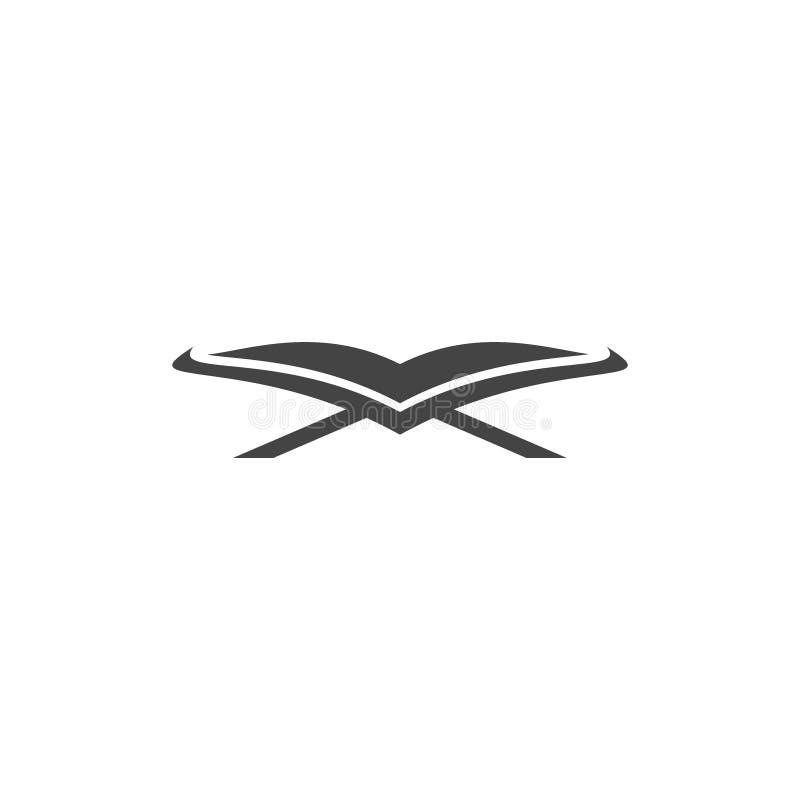 Icône de quran d'Al Logo islamique d'illustration images stock