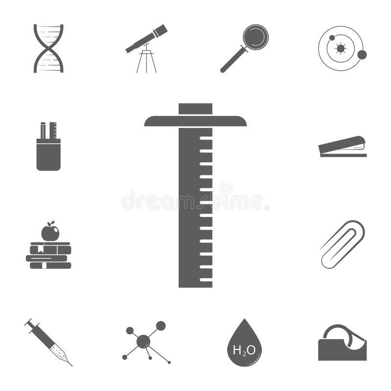 Icône de règle Ensemble détaillé d'icônes d'éducation Signe de la meilleure qualité de conception graphique de qualité Une des ic illustration stock