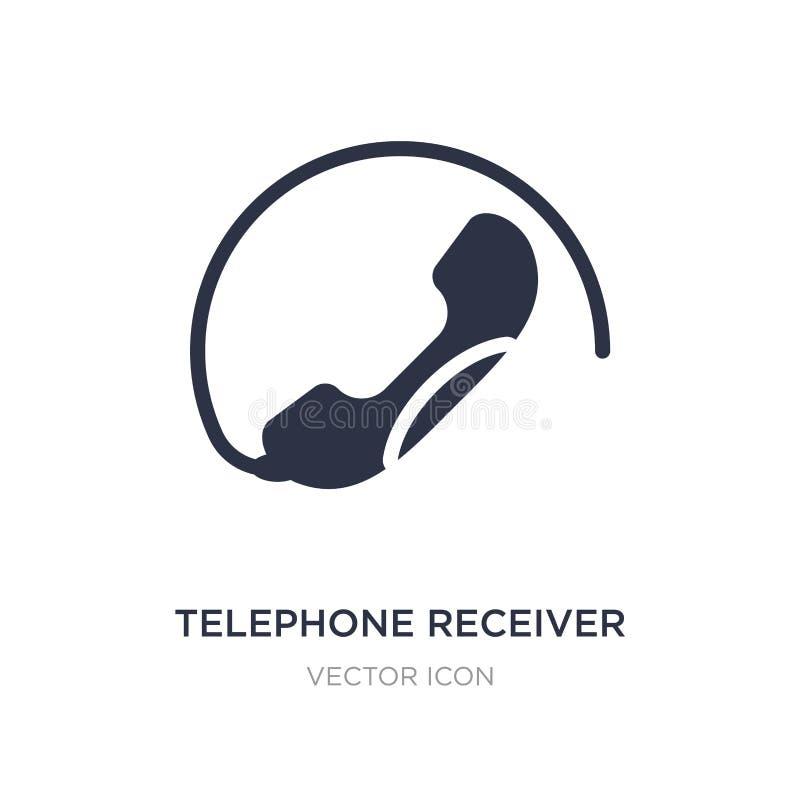 icône de récepteur téléphonique sur le fond blanc Illustration simple d'élément de concept de technologie illustration de vecteur