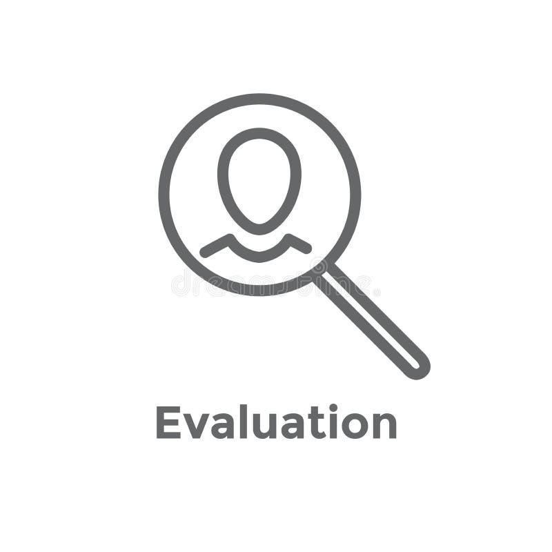 Icône de référence d'emploi de référence avec des recommandations, l'évaluation des performances, des idées etc. illustration de vecteur