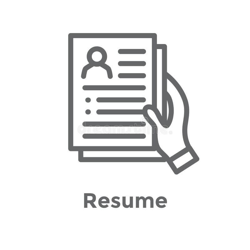 Icône de référence d'emploi de référence avec des recommandations, l'évaluation des performances, des idées etc. illustration libre de droits