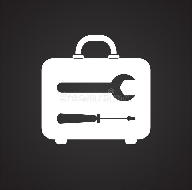 Icône de réparation de bourdon sur le fond noir pour le graphique et la conception web, signe simple moderne de vecteur Internet  illustration de vecteur
