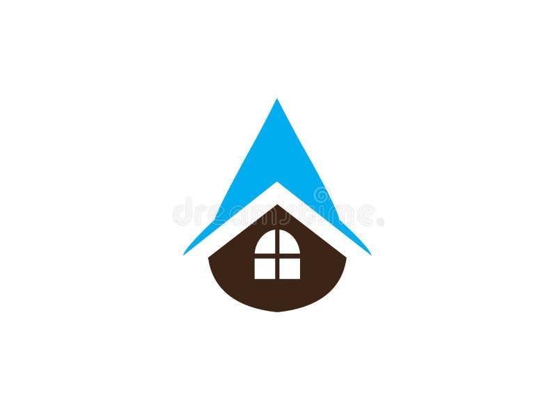 Icône de réparation de Chambre à l'intérieur d'une goutte de l'eau pour la réparation à la maison sanitaire, conception de logo illustration de vecteur