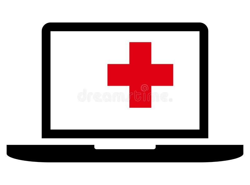 Icône de réparation d'ordinateur portable illustration stock