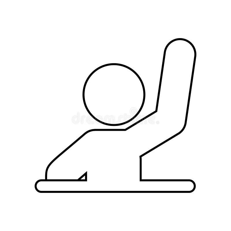 Icône de réponse Élément de nouveau à école pour le concept et l'icône mobiles d'applis de Web Contour, ligne mince icône pour la illustration libre de droits