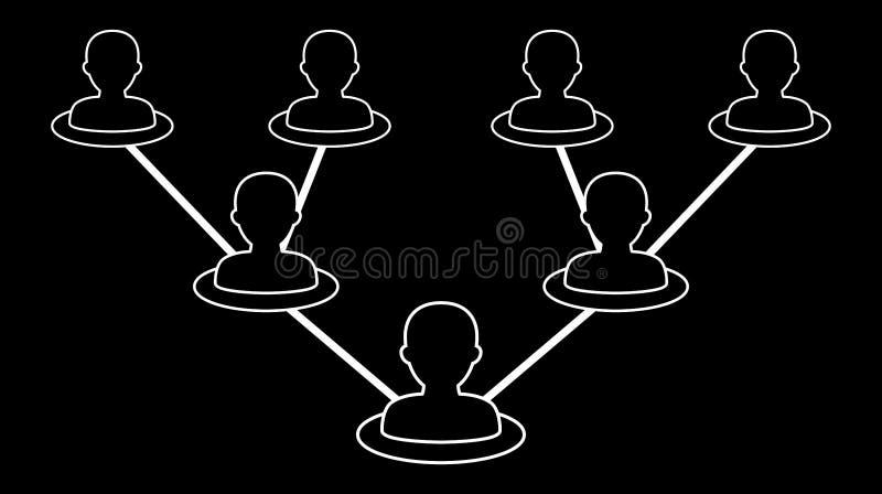 Icône de réseau de personnes illustration libre de droits