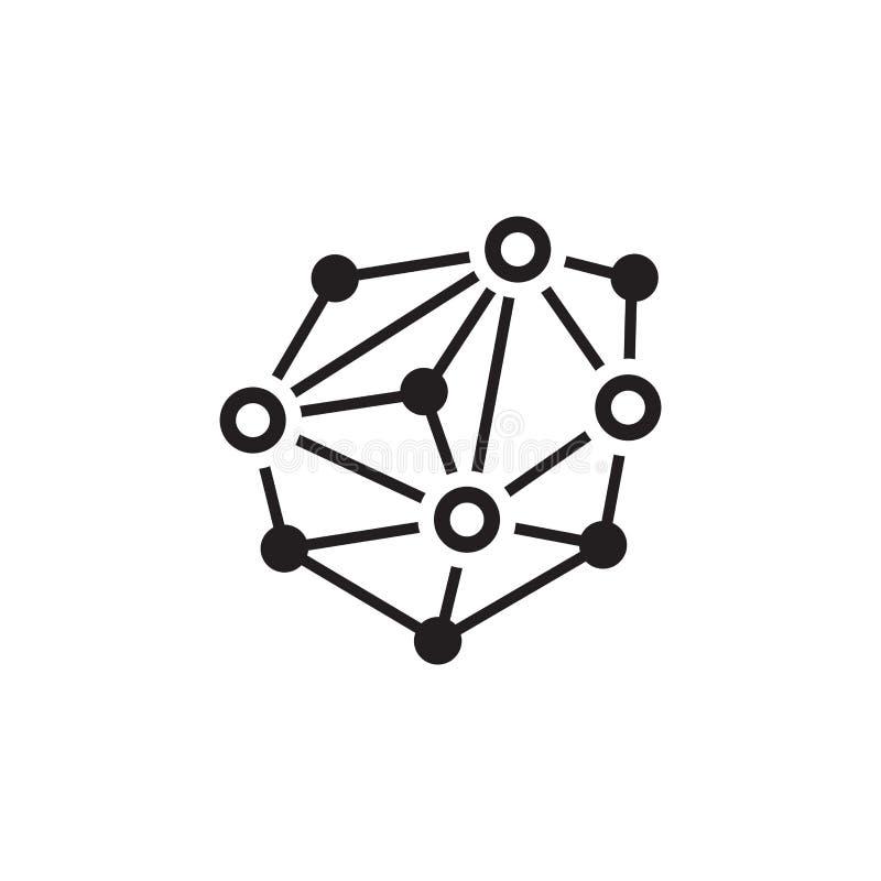 Icône de réseau réparti illustration stock