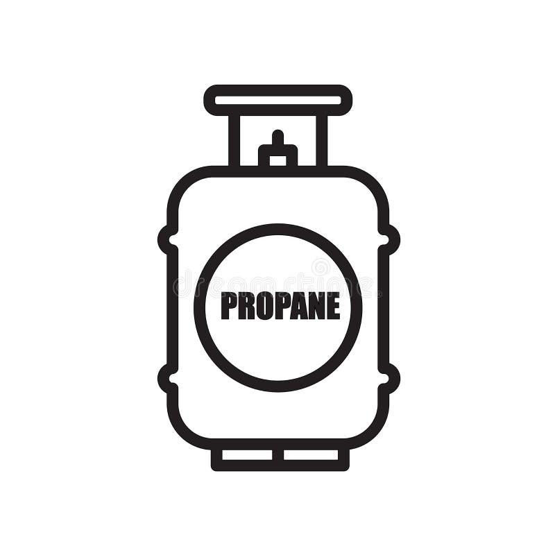 icône de réservoir de propane d'isolement sur le fond blanc illustration de vecteur