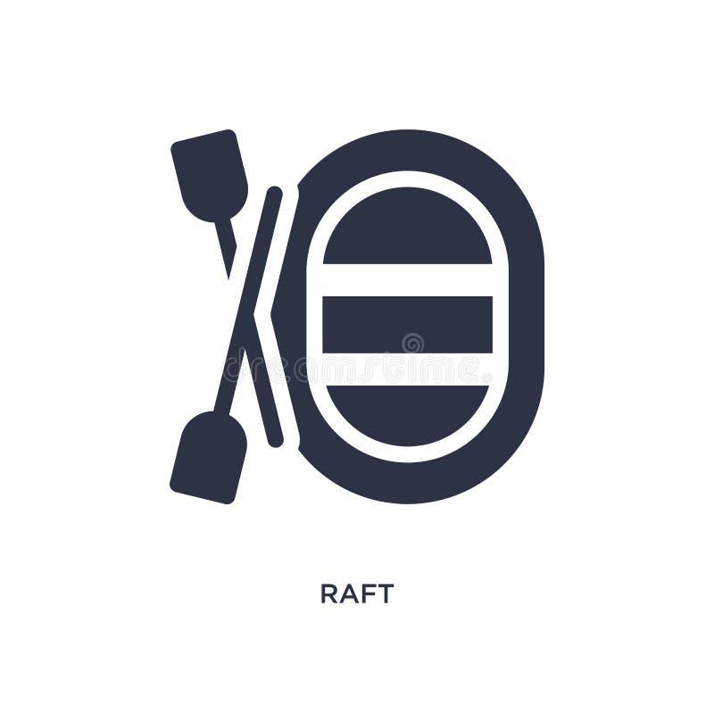 icône de radeau sur le fond blanc Illustration simple d'élément de concept campant illustration de vecteur