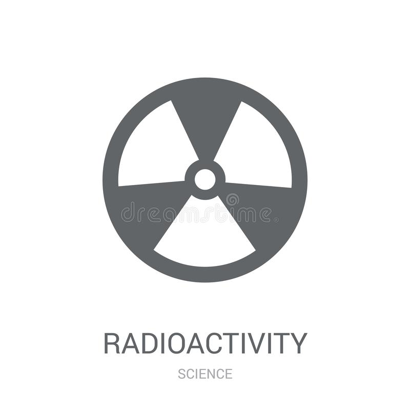 Icône de radioactivité  illustration libre de droits