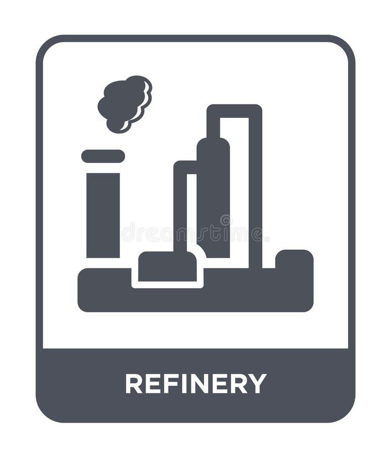 icône de raffinerie dans le style à la mode de conception icône de raffinerie d'isolement sur le fond blanc appartement simple et illustration de vecteur