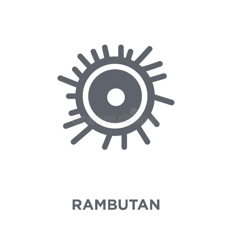 Icône de ramboutan de collection de fruits et légumes illustration stock