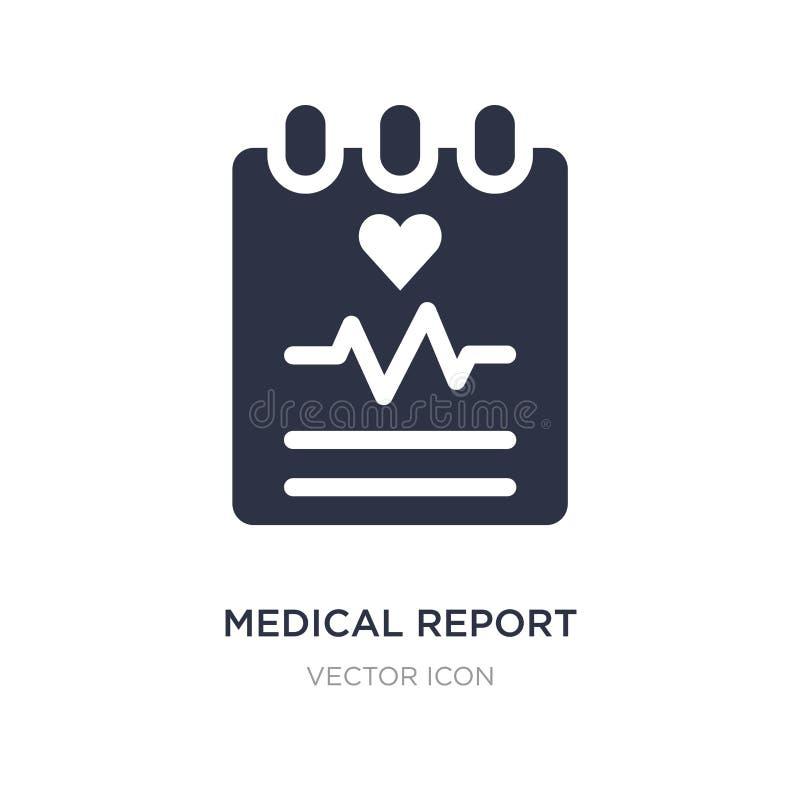 icône de rapport médical sur le fond blanc Illustration simple d'élément de santé et de concept médical illustration de vecteur