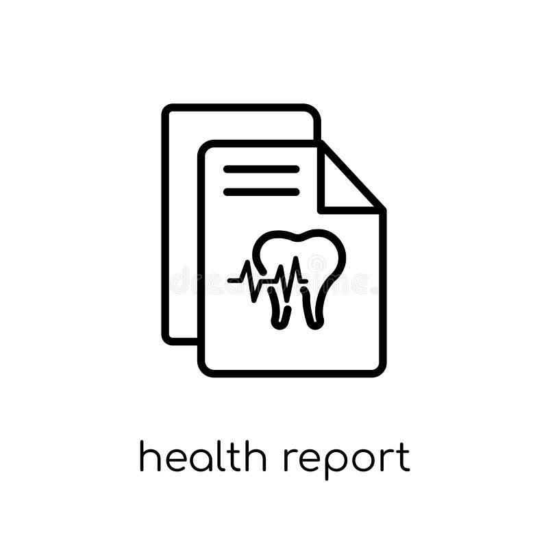 Icône de rapport de santé  illustration libre de droits