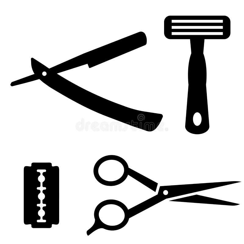Icône de rasoir collection de 18 icônes d'ensemble de rasoir comme icônes editable de rasoir pour le Web illustration libre de droits