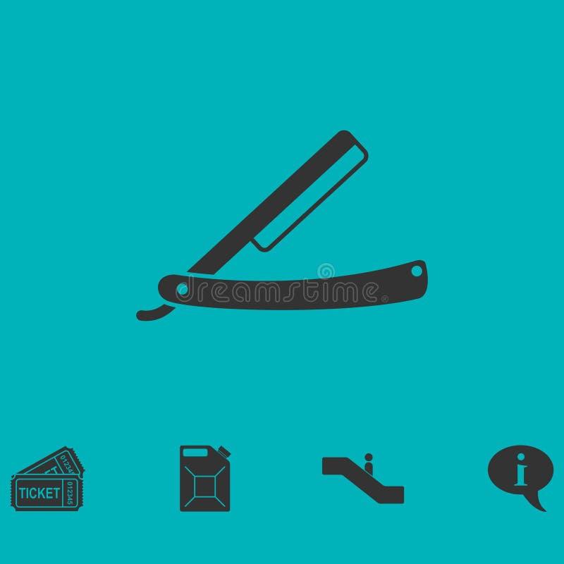 Icône de rasoir plate illustration libre de droits
