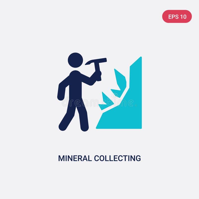 icône de rassemblement minérale de vecteur de deux couleurs d'activité et de concept de passe-temps symbole de rassemblement miné illustration libre de droits