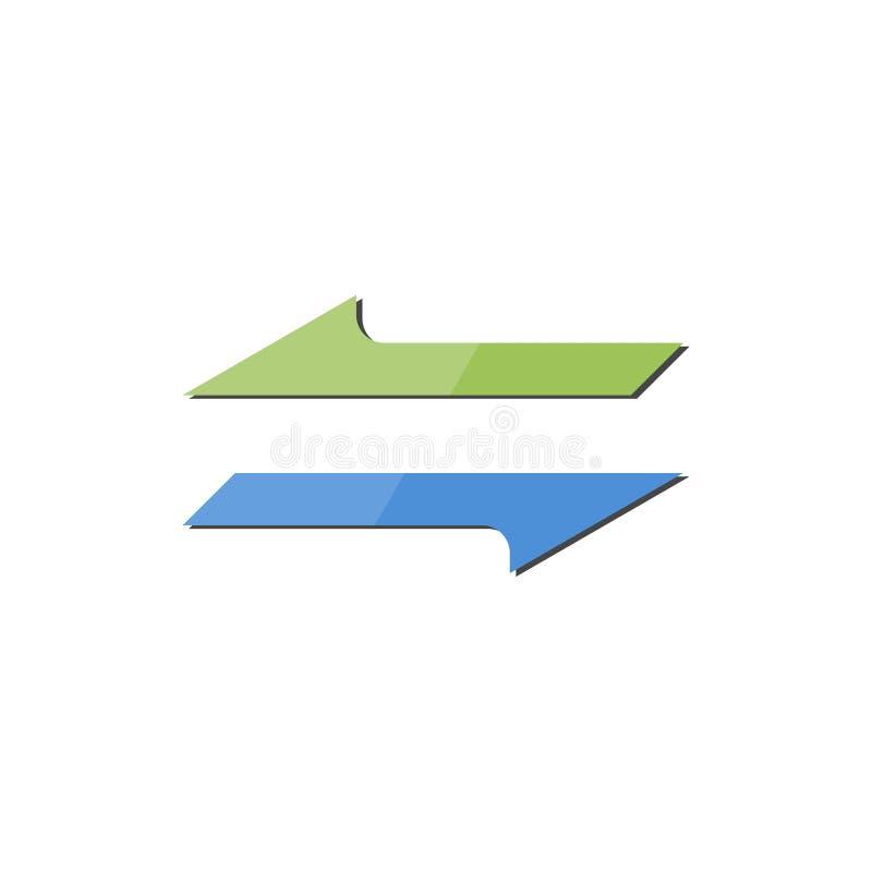 Icône de recharge, converti d'argent, logo d'échange de flèche illustration libre de droits