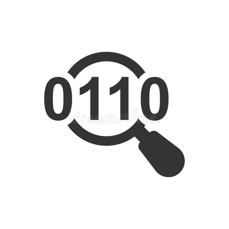 Icône de recherche de données illustration stock