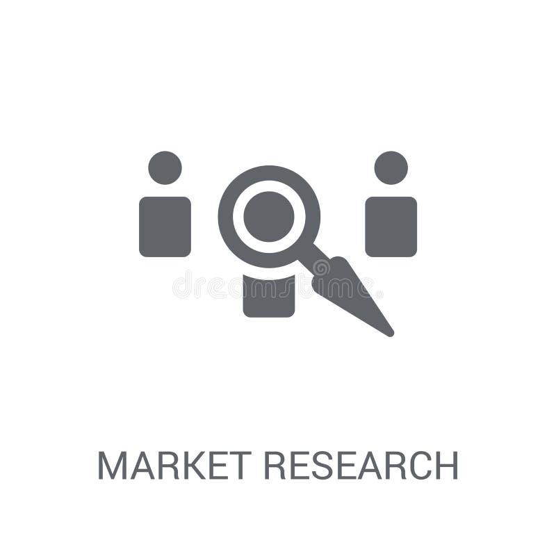 Icône de recherche de marché  illustration stock