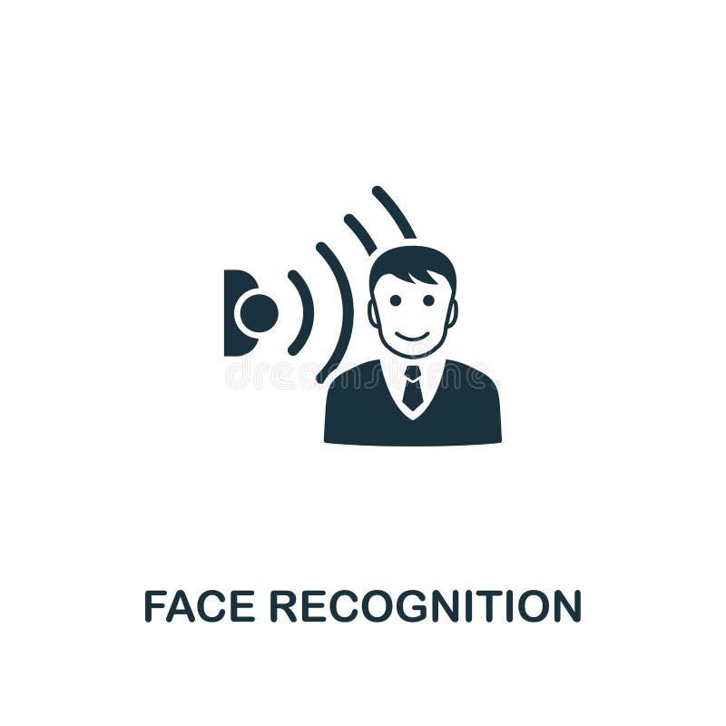 Icône de reconnaissance des visages Conception créative d'élément de la collection à la maison futée d'icônes Icône parfaite de r illustration de vecteur