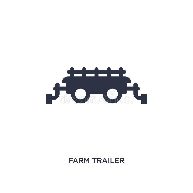 icône de remorque de ferme sur le fond blanc Illustration simple d'élément de concept agricole et de jardinage d'agriculture illustration de vecteur