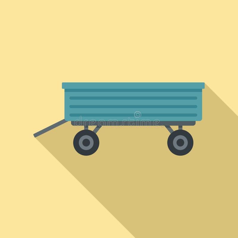 Icône de remorque, style plat illustration stock