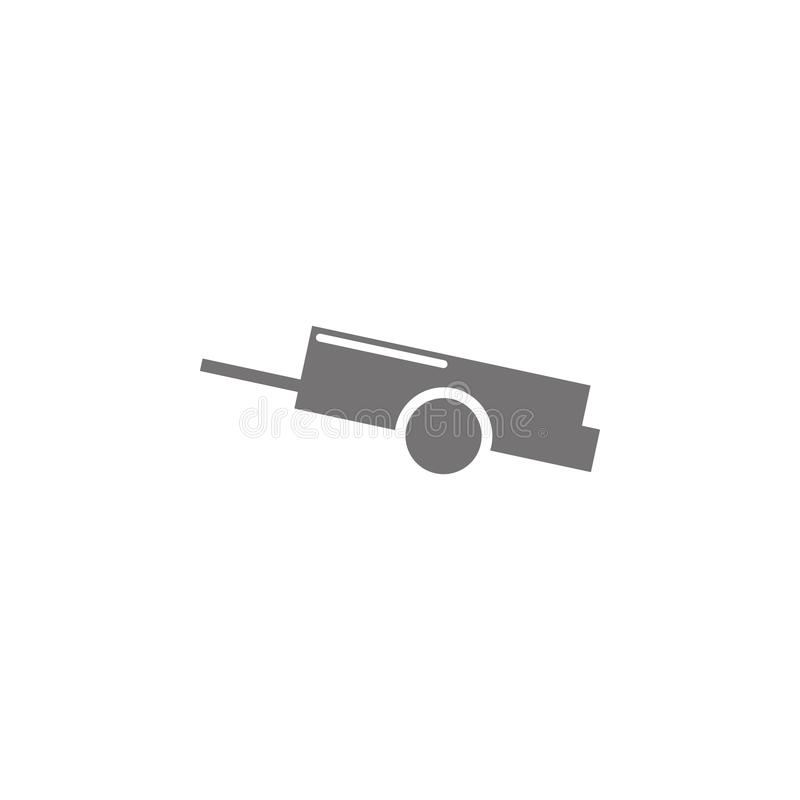 Icône de remorque de voiture illustration de vecteur