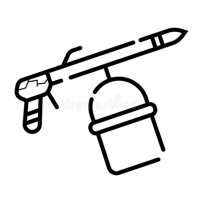 Icône de remplissage d'arme à feu de Paintball illustration libre de droits