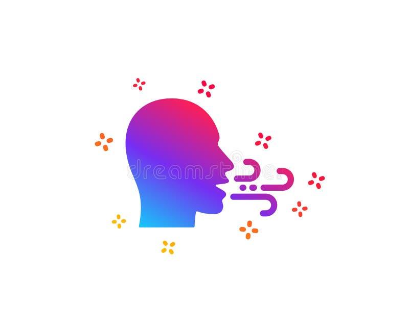 Icône de respiration Les difficultés de souffle signent Vecteur illustration de vecteur