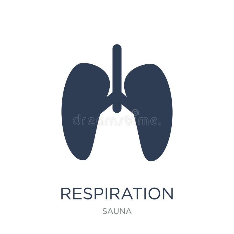 Icône de respiration Icône plate à la mode de respiration de vecteur sur b blanc illustration libre de droits