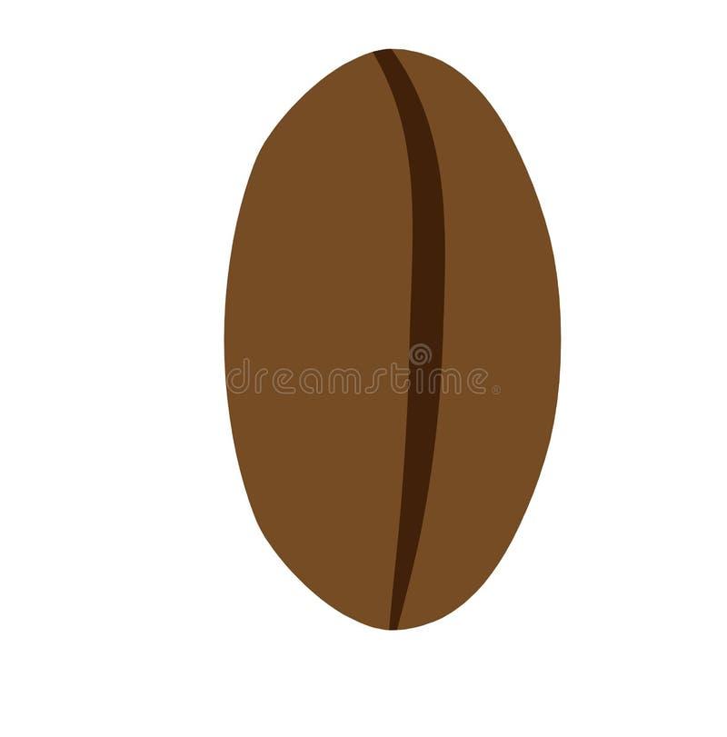 Icône de restaurant d'ingrédient de vecteur de boisson de grain de café Vue de surface plane arabe de Brown illustration libre de droits