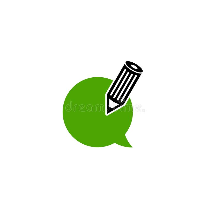 Icône de retour, écrivant l'article ou le logo de blog illustration de vecteur