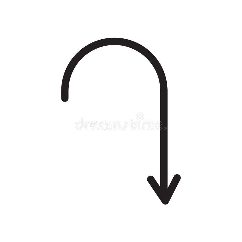 Icône de retour d'isolement sur le fond blanc illustration de vecteur