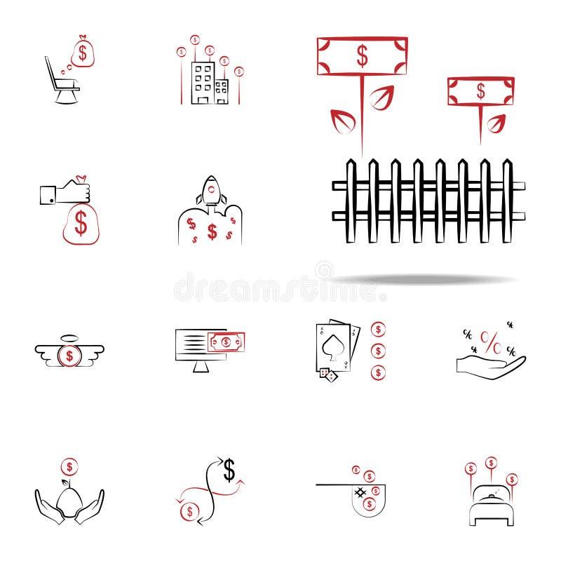 Icône de revenu agricole Financez l'ensemble universel d'icônes pour le Web et le mobile illustration de vecteur