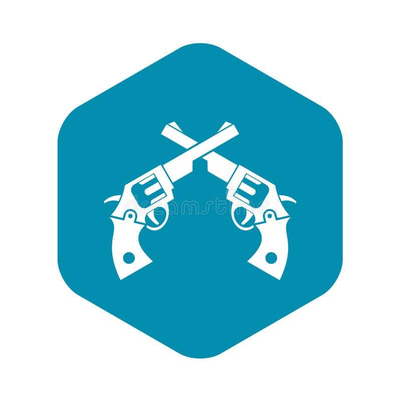 Icône de revolvers, style simple illustration libre de droits