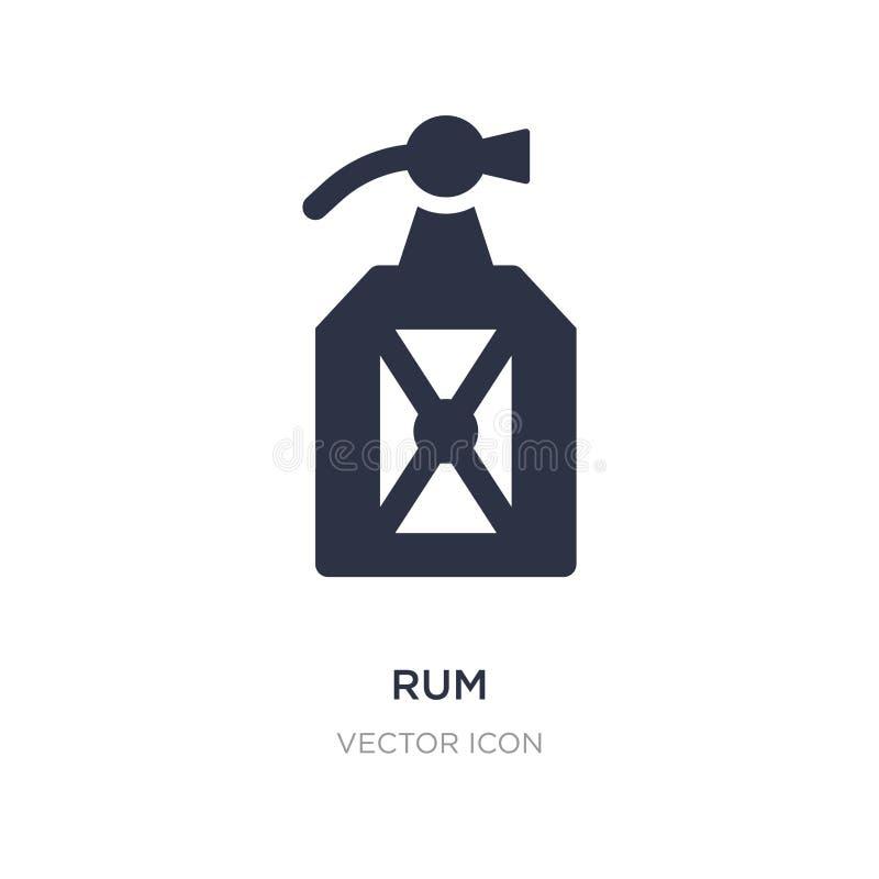 icône de rhum sur le fond blanc Illustration simple d'élément de concept de boissons illustration de vecteur