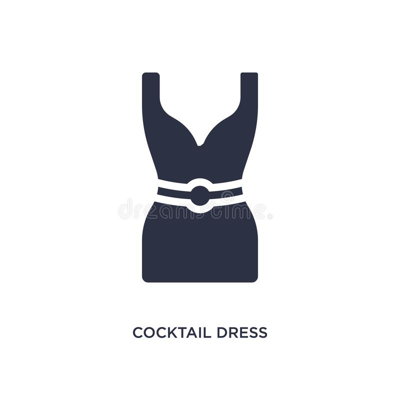 icône de robe de cocktail sur le fond blanc Illustration simple d'élément de concept de vêtements illustration libre de droits
