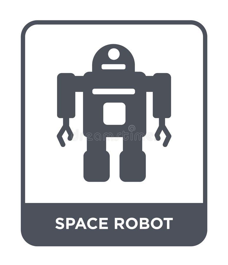 icône de robot d'espace dans le style à la mode de conception icône de robot d'espace d'isolement sur le fond blanc icône de vect illustration libre de droits