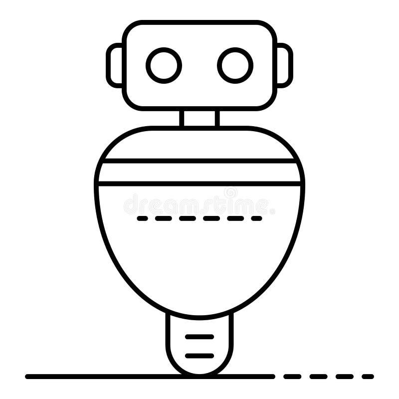 Icône de robot de Digital, style d'ensemble illustration libre de droits