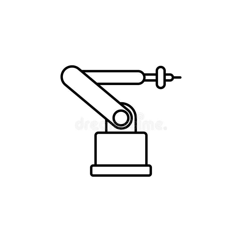 Icône de robot industriel Élément d'icône de production pour les apps mobiles de concept et de Web La ligne mince icône de robot  illustration de vecteur