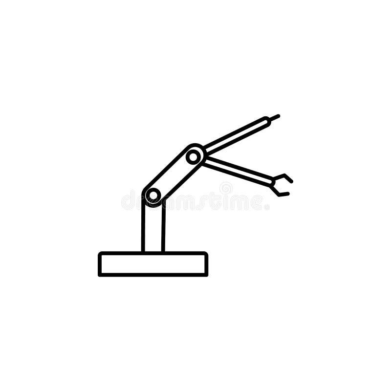 Icône de robot industriel de bras de robot Élément de la future icône de technologie pour les apps mobiles de concept et de Web L illustration libre de droits