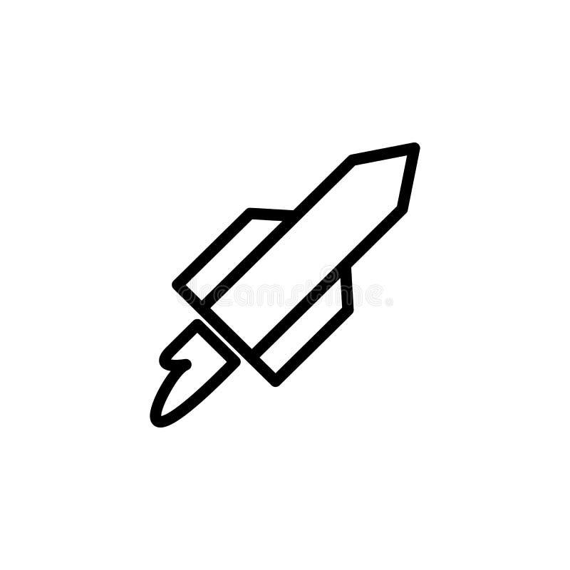 Icône de Rocket Élément des icônes minimalistic pour les apps mobiles de concept et de Web Ligne mince icône pour la conception d illustration libre de droits