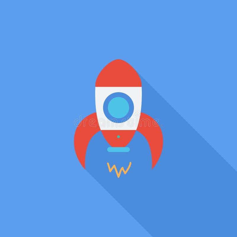 Icône de Rocket Icône relative de vecteur plat illustration de vecteur