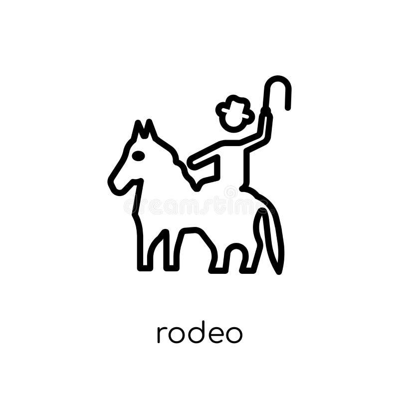 icône de rodéo de collection de cirque illustration stock