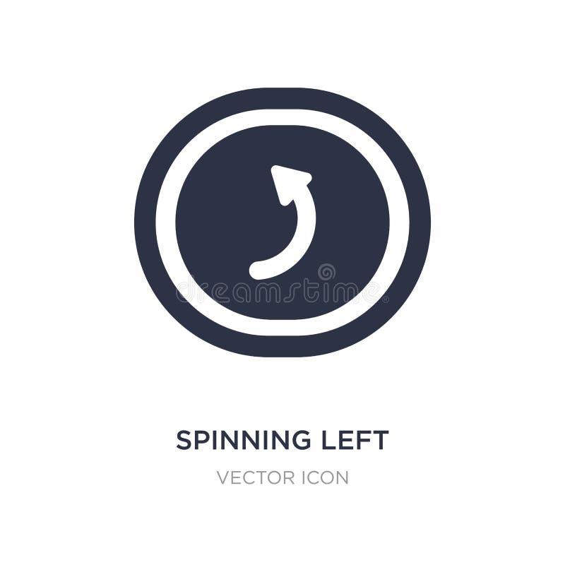 icône de rotation de flèche gauche sur le fond blanc Illustration simple d'élément de concept d'UI illustration de vecteur
